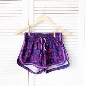 Champion Purple Print Running Shorts NWOT